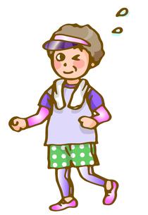お母さんジョギングの写真素材 [FYI00284737]