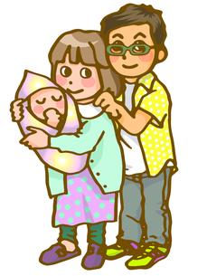 赤ちゃんとパパとママの写真素材 [FYI00284745]