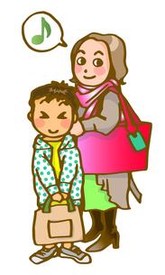 ママと一緒に習い事の写真素材 [FYI00284750]
