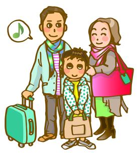 家族旅行の写真素材 [FYI00284751]