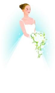 ウェディングドレスの女性の写真素材 [FYI00284754]