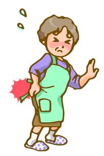 腰痛に苦しむお母さんの写真素材 [FYI00284761]