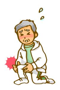 膝痛に苦しむお父さんの写真素材 [FYI00284773]