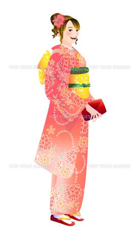 振り袖の女性の写真素材 [FYI00284787]