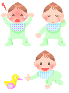 赤ちゃんの写真素材 [FYI00284816]