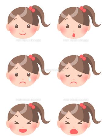 女の子の顔の素材 [FYI00284817]