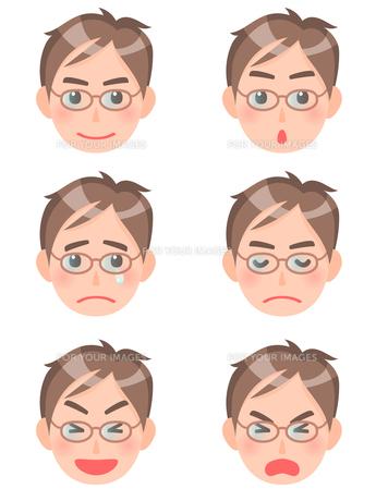 男性の顔の素材 [FYI00284822]