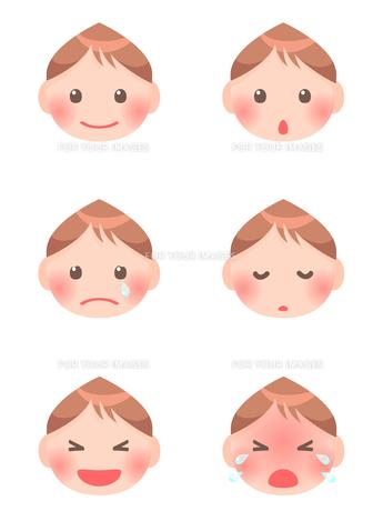 赤ちゃんの顔の素材 [FYI00284825]