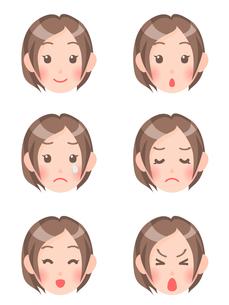 女性の顔の素材 [FYI00284834]