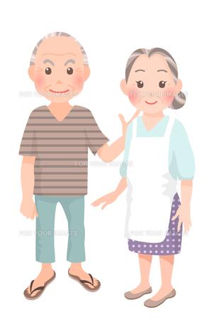 老夫婦の写真素材 [FYI00284838]