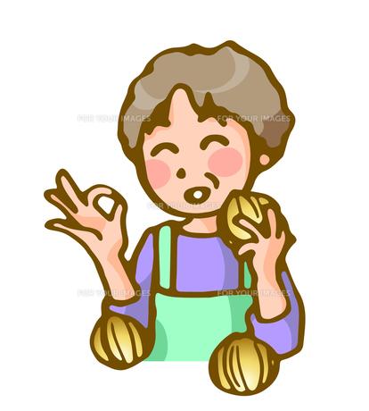 主婦と玉葱の素材 [FYI00284839]