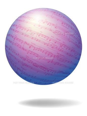 楽譜の惑星の素材 [FYI00284843]