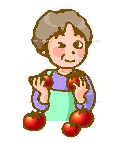 主婦とトマトの素材 [FYI00284844]