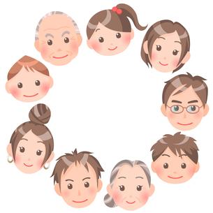家族の輪のイラスト素材 [FYI00284879]