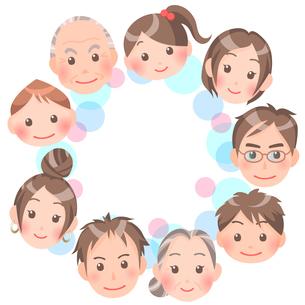 家族の輪のイラスト素材 [FYI00284887]