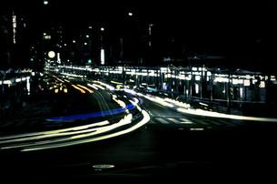 京都の夜、祇園4の写真素材 [FYI00284908]