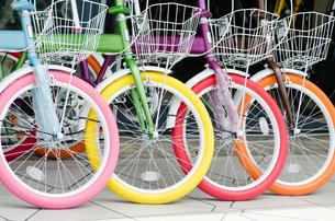カラフルな自転車の素材 [FYI00285223]