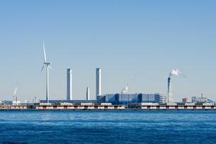 火力発電所と風車の素材 [FYI00285225]