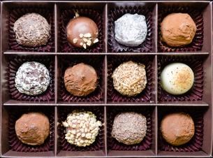 チョコレートの詰め合わせの写真素材 [FYI00285226]