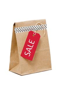 紙袋とタグの写真素材 [FYI00285267]