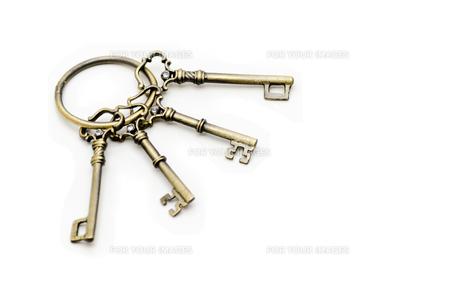 アンティークな鍵束の写真素材 [FYI00285312]