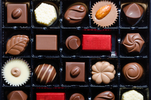チョコレートの詰め合わせの写真素材 [FYI00285361]