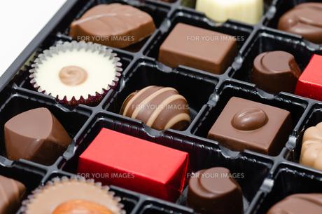チョコレートの詰め合わせの写真素材 [FYI00285380]