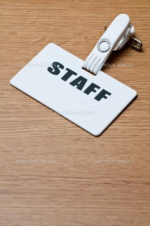 スタッフの名札の写真素材 [FYI00285455]