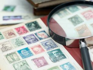 切手収集の写真素材 [FYI00285482]