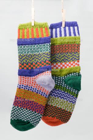 カラフルな靴下の写真素材 [FYI00285509]