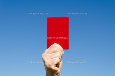 レッドカードの写真素材 [FYI00285568]