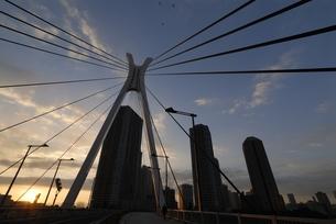中央大橋の朝の写真素材 [FYI00285927]
