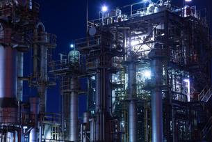 京浜工業地帯の夜景の写真素材 [FYI00286283]