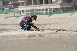 貝殻を探す少年の写真素材 [FYI00288005]
