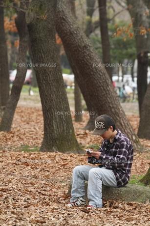 ゲームをする少年の写真素材 [FYI00288129]