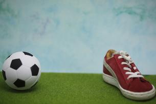 スニーカーとサッカーボールの素材 [FYI00288975]