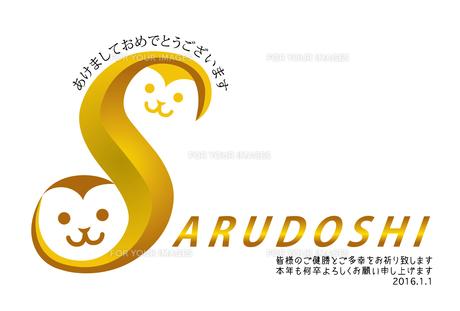 2016年賀状/さる/SARUDOSHI/申/あけましておめでとうございますの写真素材 [FYI00289478]