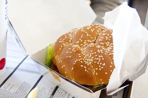 ハンバーガーの写真素材 [FYI00289522]