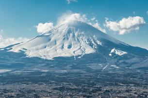 真冬の富士 足柄山よりの写真素材 [FYI00289566]