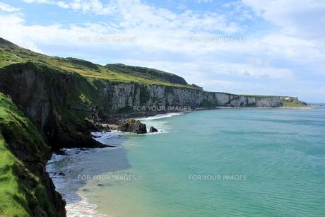 北アイルランドの海の写真素材 [FYI00289583]