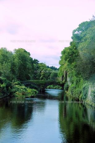 北アイルランドの緑の橋の写真素材 [FYI00289587]
