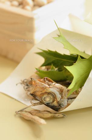 柊鰯と節分豆の写真素材 [FYI00289761]