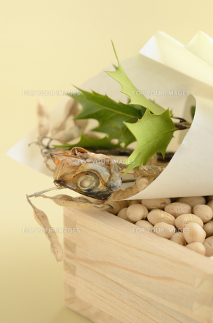 柊鰯と節分豆の写真素材 [FYI00289781]