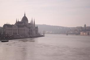 ブダペスト ドナウ川沿いの国会議事堂の写真素材 [FYI00289943]