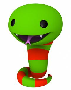 年賀状・巳年 シマヘビの写真素材 [FYI00290017]
