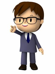 ビジネスマン・指差しポーズの写真素材 [FYI00290029]