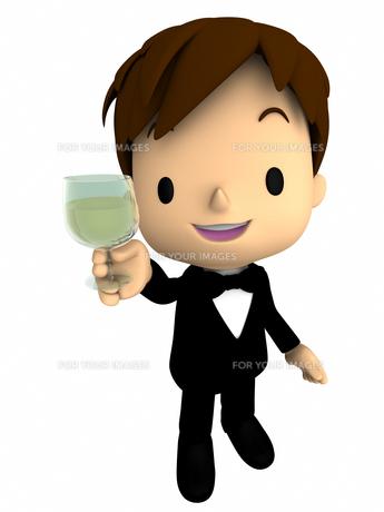 男性・パーティー 乾杯の写真素材 [FYI00290035]
