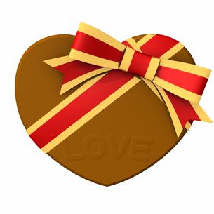 バレンタインデー ハート形チョコレート LOVEの写真素材 [FYI00290047]