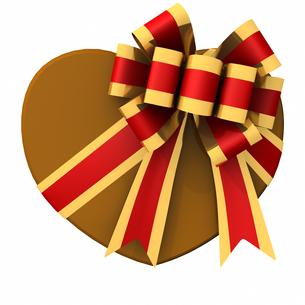 バレンタインデー ハート形チョコレート フレンチボウの写真素材 [FYI00290048]