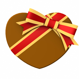 バレンタインデー ハート形チョコレートの写真素材 [FYI00290050]